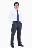 Tradesman with his hands in his pockets Royalty Free Stock Photo