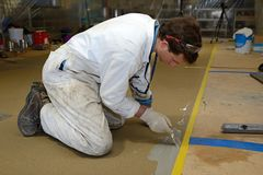 Epoxy surface for floor royalty free stock photography
