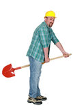 A tradesman's broomstick Royalty Free Stock Photo