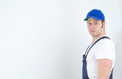 Tradesman in uniform Stock Photography