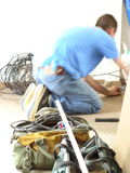 Tradesman working Royalty Free Stock Photos