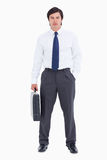 Tradesman z jego walizką Zdjęcie Royalty Free