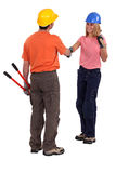 Tradespeople meeting Royalty Free Stock Images