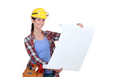 Tradeswoman Royalty Free Stock Images