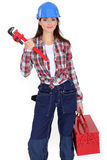 Tradeswoman Royalty Free Stock Photography