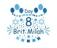 Tradição de Brit Milah Jewish feriado judaism Cartões para um menino Ilustração do vetor ilustração stock