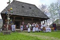 Tradições da região de Romênia - de Maramures fotografia de stock royalty free