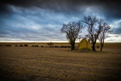 Tradiccion. Shepherd`s refuge in Castile in half of the high plateau Stock Images