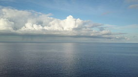 Tradichionny boats of fishermen on seas and clouds on sky over water Bali. Indonesia stock video