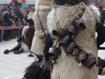 Tradición del carnaval de Cerdeña con Issohadores y la máscara de los mamuthones Fotografía de archivo libre de regalías