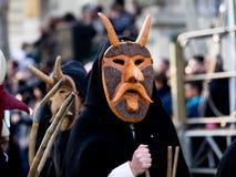 Tradición del carnaval de Cerdeña con Issohadores y la máscara de los mamuthones Fotos de archivo
