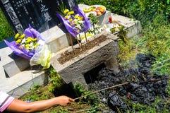 Tradición del entierro del chino tradicional Fotografía de archivo