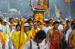 Tradición provincial del festival vegetariano de Phuket Foto de archivo