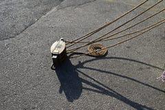 Tradicional boats equipments stock images