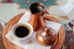 Tradicional Bosnian black Turkish caffe royalty free stock photo
