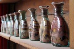 Tradicional botlle sand art, Jordan Stock Images