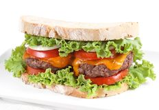 Tradicional bread burger Stock Photos