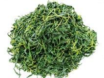 Tradicional chinês, Bai Po Agite Fried Jute Leaves Mulukhiyah Leaves foto de stock royalty free