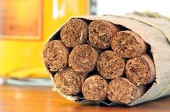 Tradicional cigars from cuba Royalty Free Stock Photography