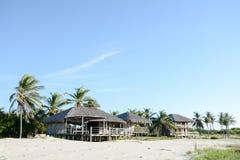 Tradicional domy na plaży Zdjęcie Stock