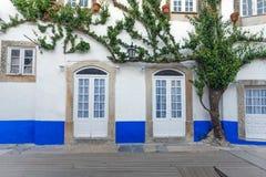 Tradicional facade in Obidos Stock Photography