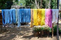 Tradicional feito a mão de seda de tingidura Imagem de Stock Royalty Free