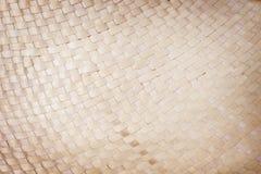 Tradicional handcraft o coco secado deixa testes padrões tecidos para a textura ou o fundo foto de stock royalty free