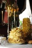Tradicional lithuanian wedding cake. Traditional lithuanian wedding cake called sakotis Royalty Free Stock Images