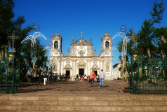 Tradicional português Igreja Fotografia de Stock Royalty Free