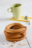Tradicional portuguese pastry rings Royalty Free Stock Image