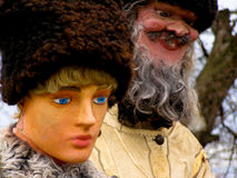 Tradicional rumano de la historia de las marionetas Imagen de archivo libre de regalías