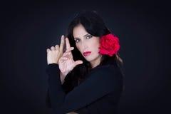 Tradicional spansk dansare från Andalucia royaltyfria foton