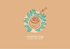 Tradiciones del té Hojas de té y compañero del té libre illustration