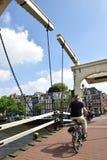 Dutch bridge in Amsterdam stock photography