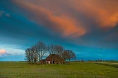 Historic Frisian Farm stock images