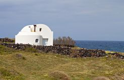 Tradiitonal house at Santorini island Royalty Free Stock Photography