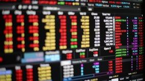 Trading board stock video