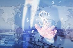 Currency exchange concept stock photos