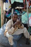 Trading on a city street in Somalia Royalty Free Stock Image