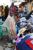 Trading on a city street in Somalia Royalty Free Stock Photos