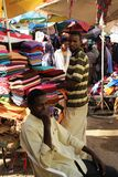 Trading on a city street in Somalia Stock Image