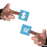 Trading concept. Trading concept with a white background Royalty Free Stock Image