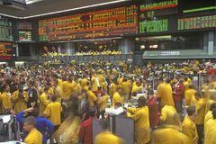 Trading Floor of the Chicago Mercantile Exchange, Chicago, Illinois Stock Images