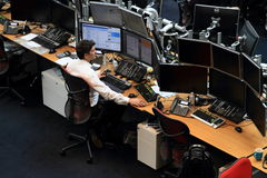 Trading floor Royalty Free Stock Photography