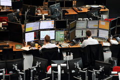 Trading floor Royalty Free Stock Image