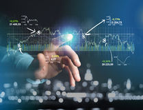 Trading forex data information displayed on a stock exchange int Royalty Free Stock Images