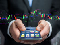 Trading forex data information displayed on a stock exchange int. View of a Trading forex data information displayed on a stock exchange interface - Finance Royalty Free Stock Images