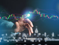 Trading forex data information displayed on a stock exchange int Royalty Free Stock Photos