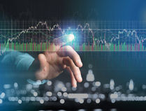 Trading forex data information displayed on a stock exchange int Stock Images