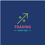 Trading graphics  icon set. Trading graphic logo. Investment line isolated icon Stock Image